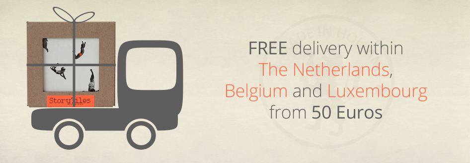 StoryTiles offers a complimentary delivery from an order of €50 or more in The Netherlands, Belgium and Luxembourg.