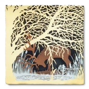 Deer near a spring 300DPI 1000 x 1000