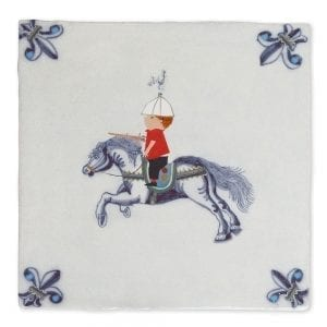 Knight on horseback | Tiles