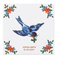 vogel met klavertje vier